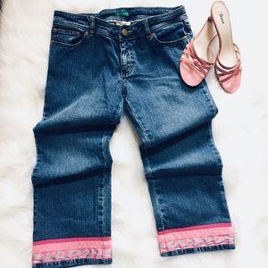 Lilly Pulitzer Crop Jeans Palm Beach Fit *D* Pants